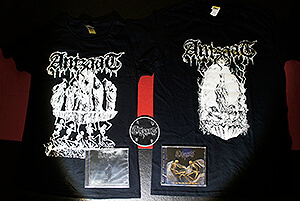 "Grand Package (EP + CD + T-shirt ""Veil of Darkness"" + T-shirt ""The Burning Heart"" + free circle patch)"